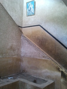 stairs to the school