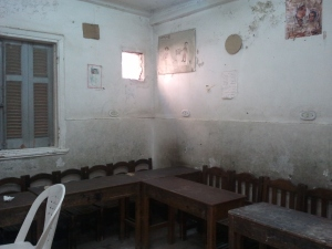 classroom in the old hospital