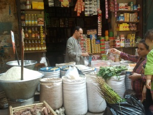 Man selling spices