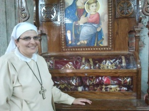 Sister Marina at shrine